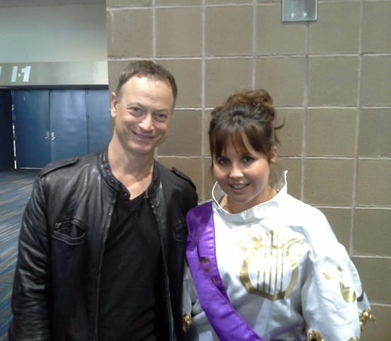 Gary Sinise from CSI NY meets Cheryl at New Orleans Mardi Gras 2013