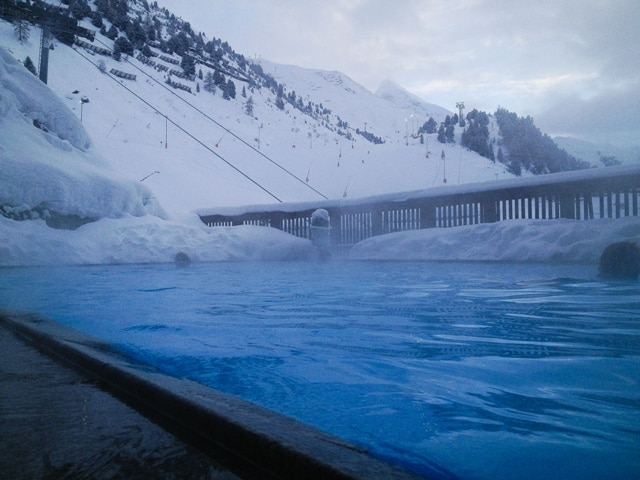 Heated outdoor pool at Hotel Edelweiss & Gurgl