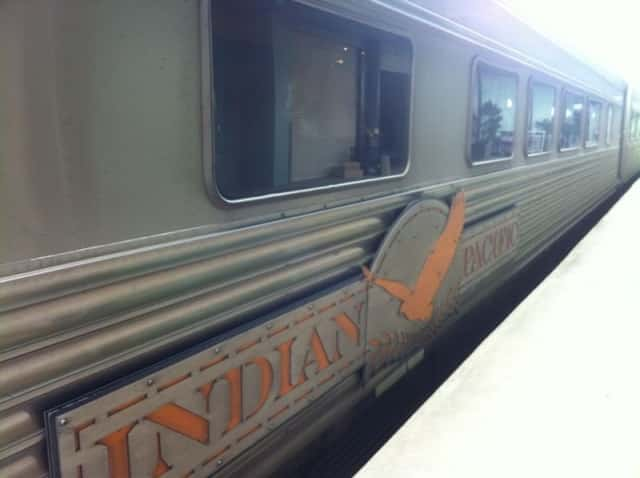 The Indian Pacific train