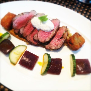 Just one of the delicious meat dishes at Cafe Boulud