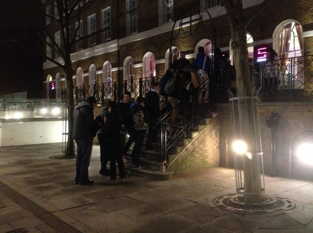 A group of French teens head into the Safestay London ahead of us - things could've been noisy, but it was far from it.