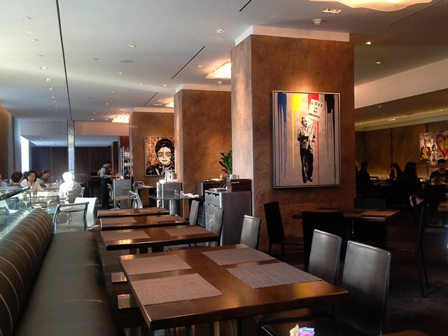 Cafe Boulud with its original artworks