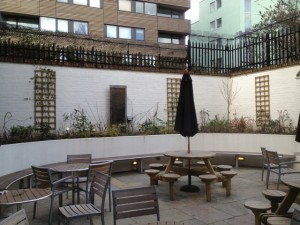 Garden at Safestay London
