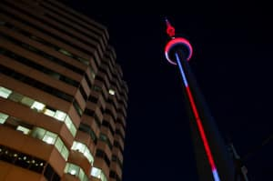 The CN Tower is home to 360 Restaurant