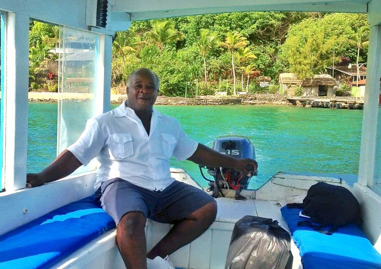 Travel to St Vincent and The Grenadines - the ferry to Young Island Resort
