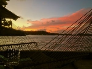 Hammock time at sunset