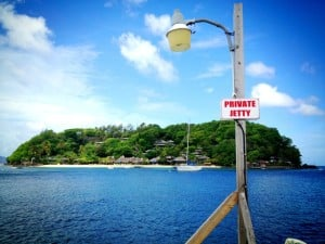 Pick up the ferry for Young Island Resort Caribbean Holiday at the private jetty on St Vincent