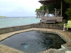 Plunge pool, cottage 10 Young Island Resort