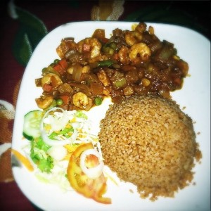 A traditional Gambian meal