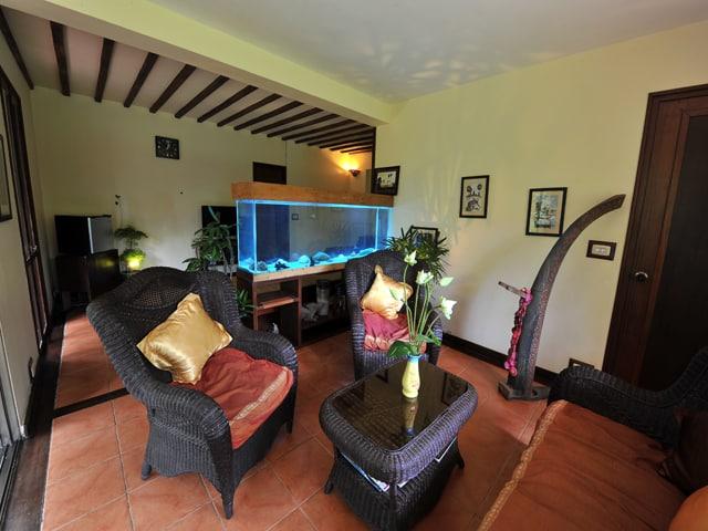 Family salon at the Amatao Tropical Residence