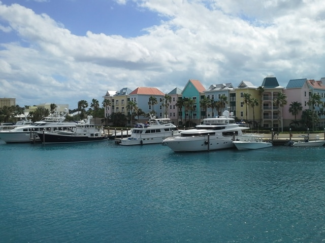 The marina at Atlantis Resort Bahamas