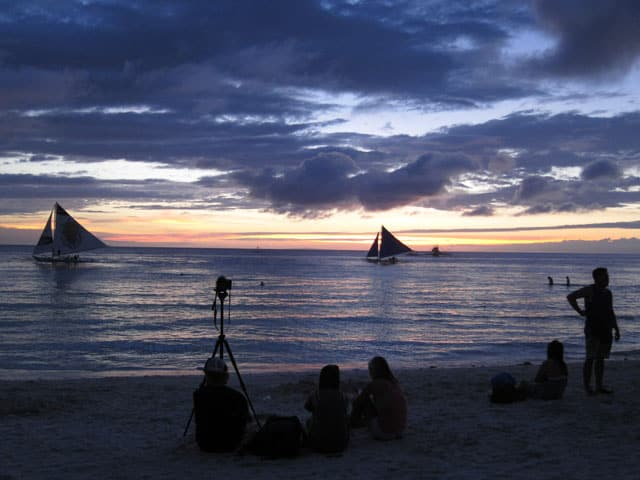 Evening on Boracay beach