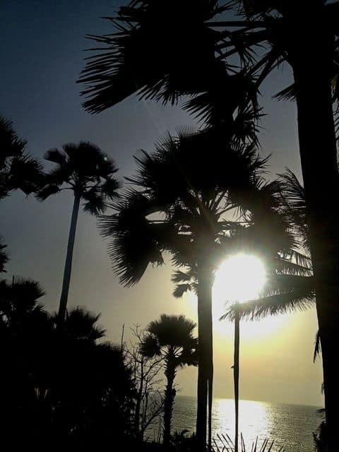 Enjoy sunset views over the Atlantic in Gambia with Dial An Exchange
