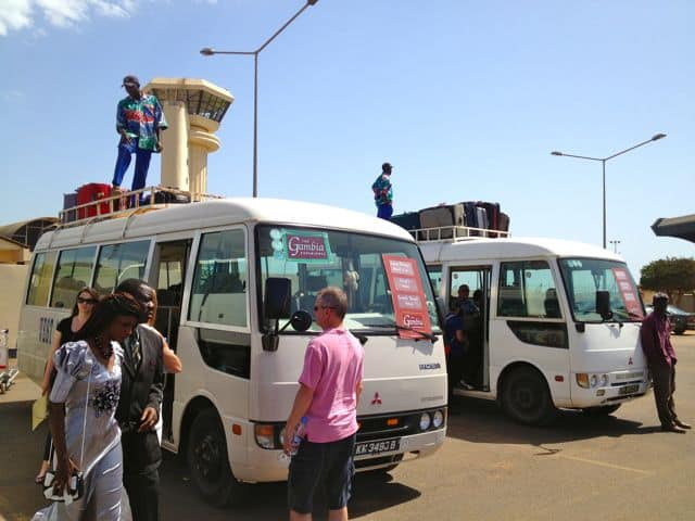 Travel to Gambia. Here's our airport transfer with The Gambia Experience