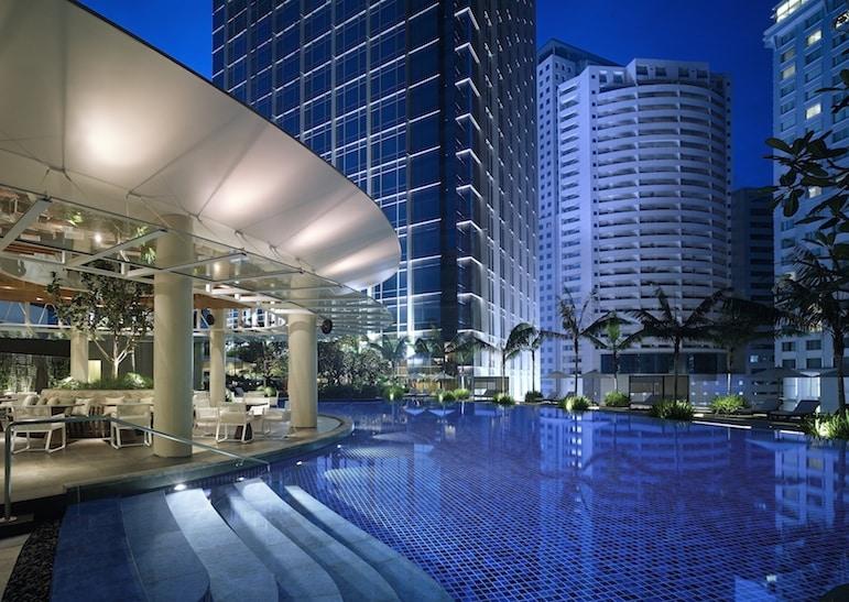 Poolside restaurant at Grand Hyatt Kuala Lumpur