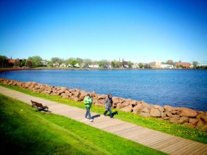 Prince Edward Island's capital Charlottetown from across the water