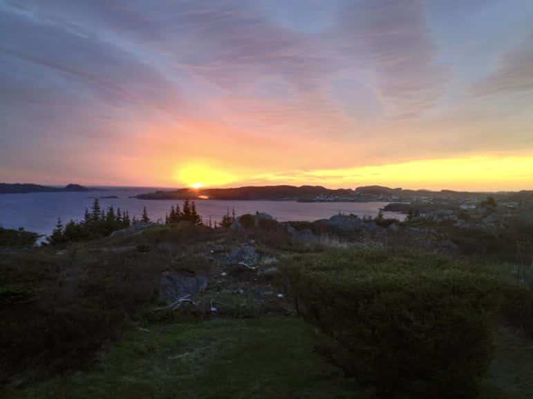 Sunrise over Twillingate, Newfoundland
