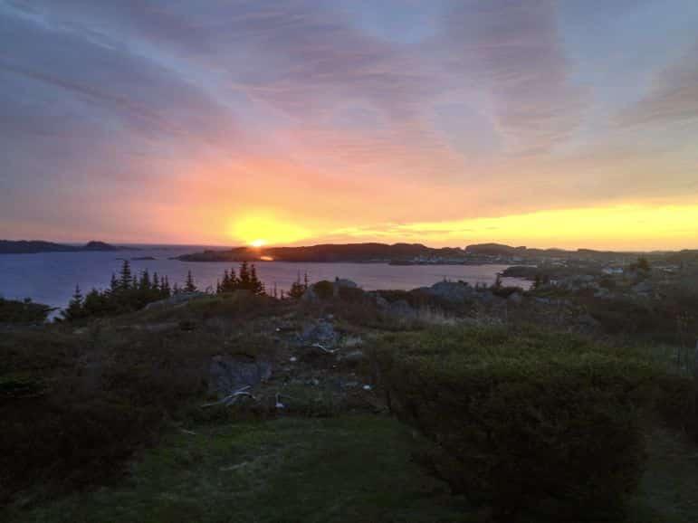 Sunrise over Twillingate, Newfoundland