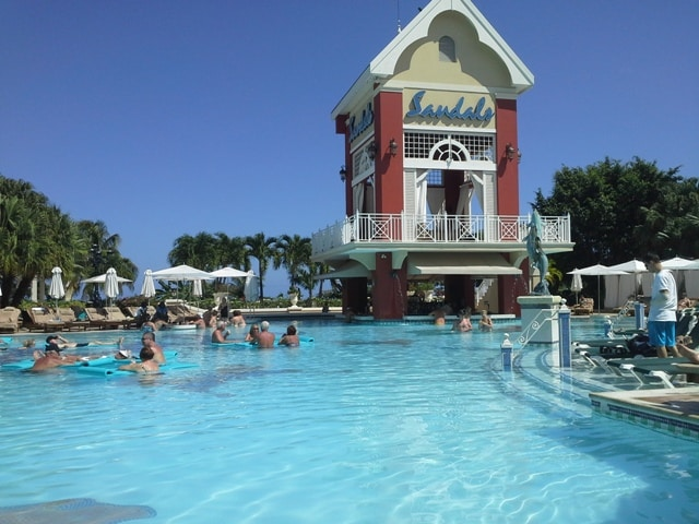 Swimming pool at Sandals Grande Riviera