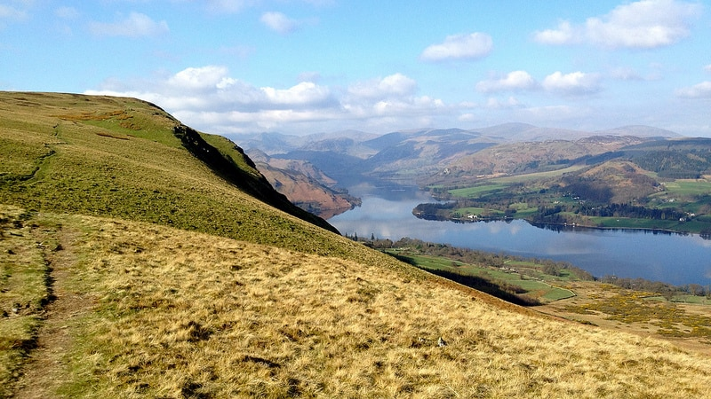 Ullswater in the Lake District National Park