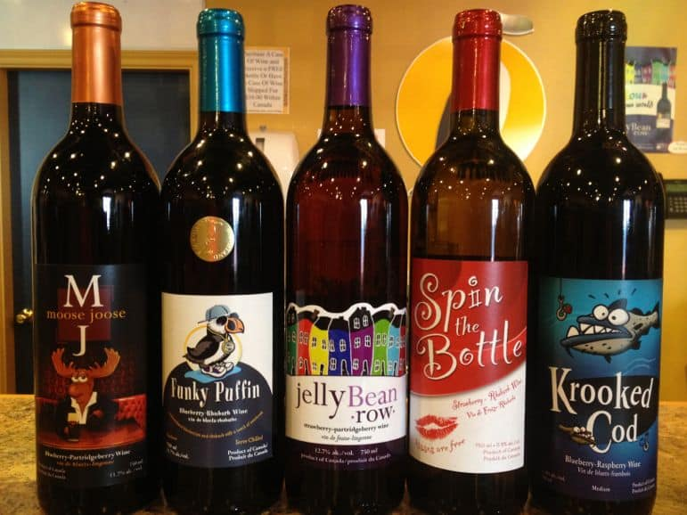 Auk Island Winery's berry wines have some comical names