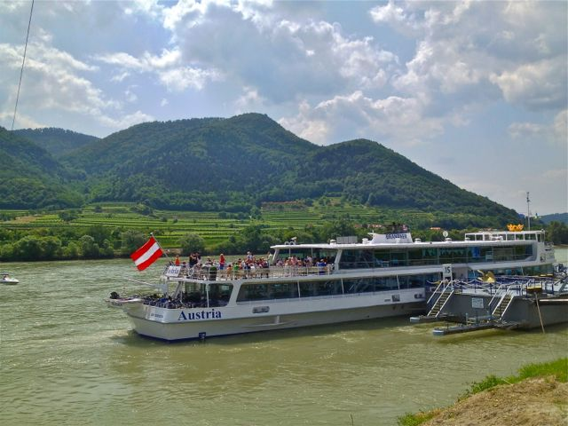 The MS Austria on the Danube at Spitz