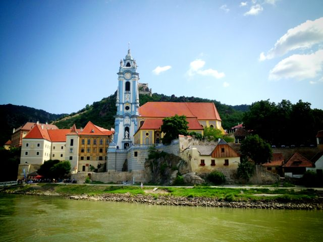 The blue church of Durnstein