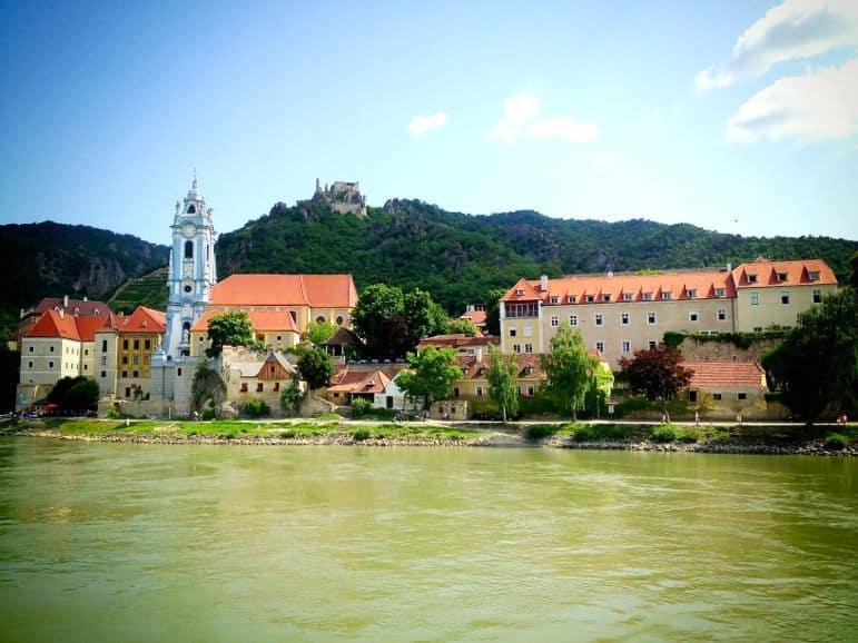 The blue church of Durnstein
