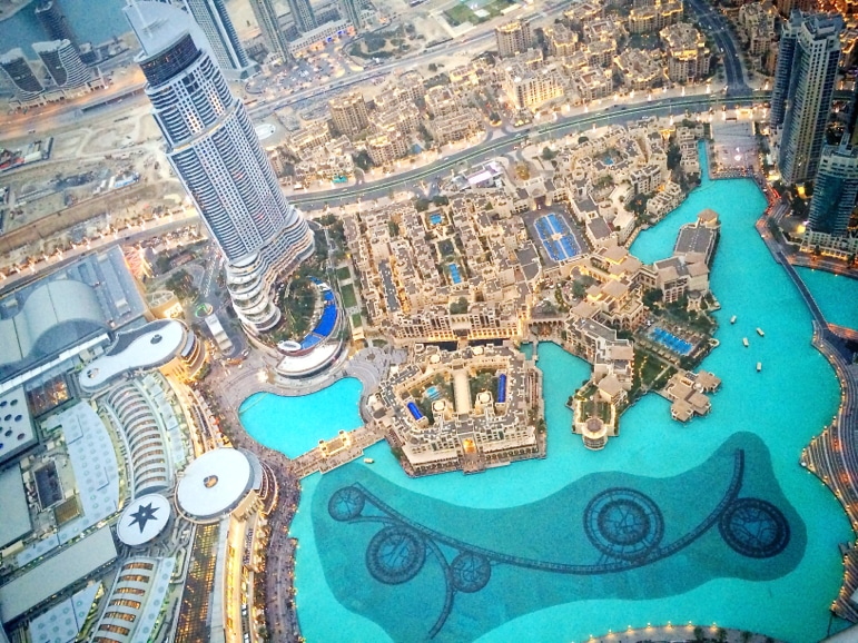 View from the top - Dubai from the Burj Khalifa