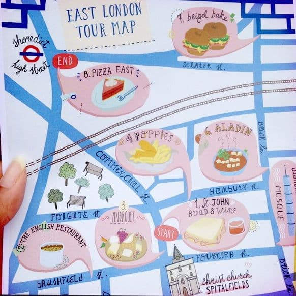 Eating London Tour map