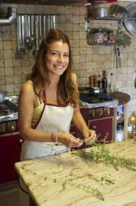 Luna enjoying her cooking classes in Italy
