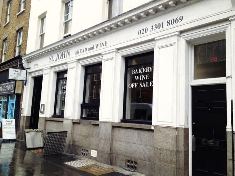 St John Bread & Wine, Eating London food tour