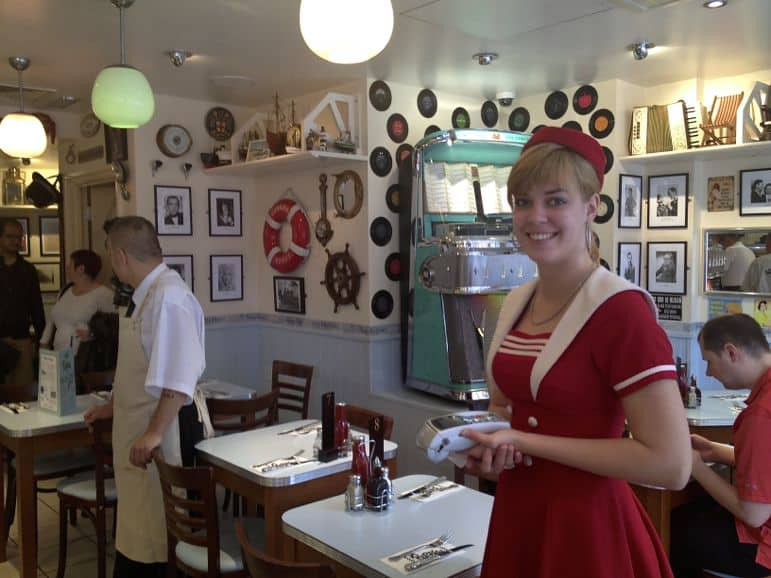Waitress at Poppies, Spitalfields