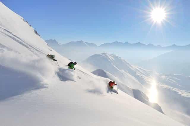 On the ski slopes in Austria