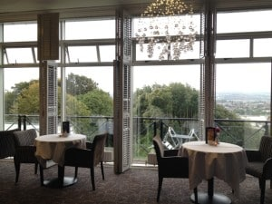 Dining room with a view at Montenotte Hotel, city of Cork