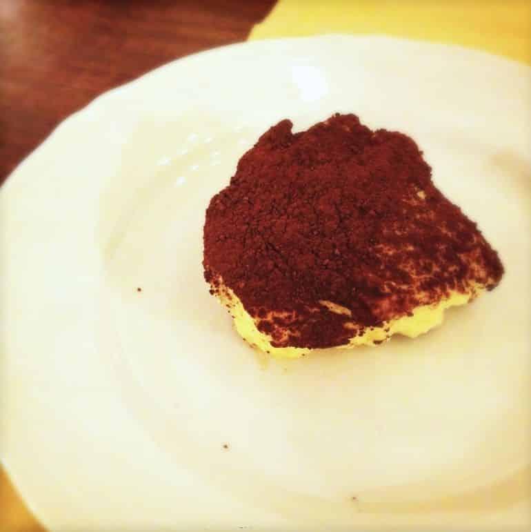 A serving of tiramisu