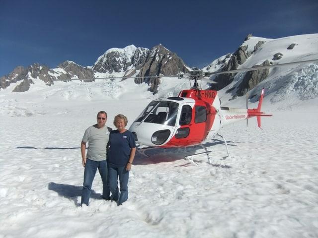 Liz & Ivan Gould enjoy a glacier experience