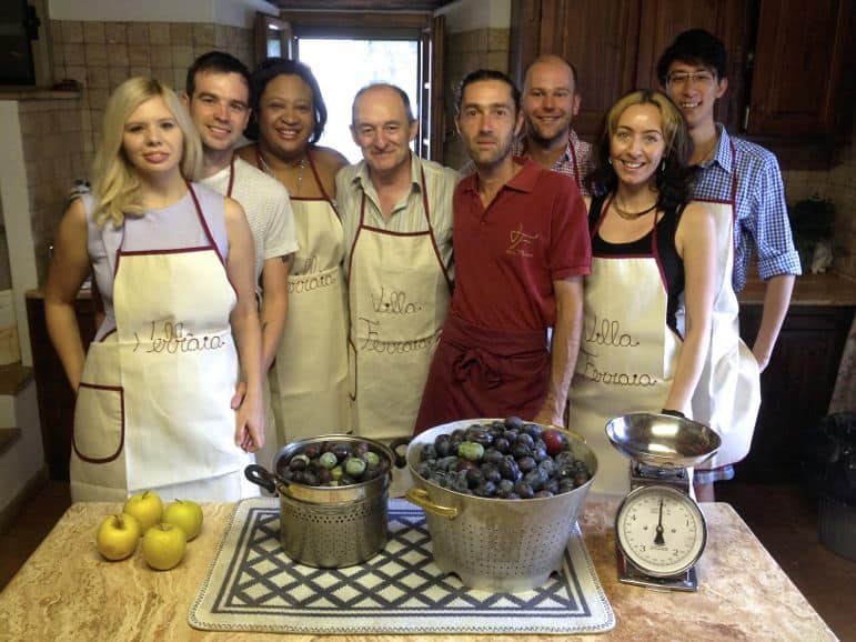 Our cooking group with chef Stefano
