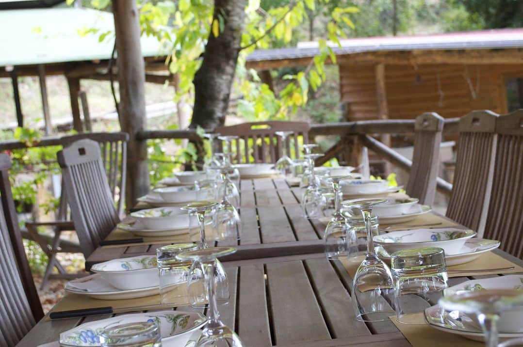 Ready for dinner at our cooking classes in Italy