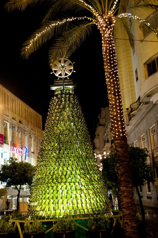 A tree made of Sherry bottles, Jerez