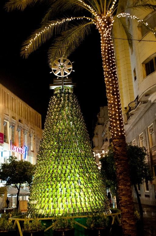 A tree made of Sherry bottles, Jerez