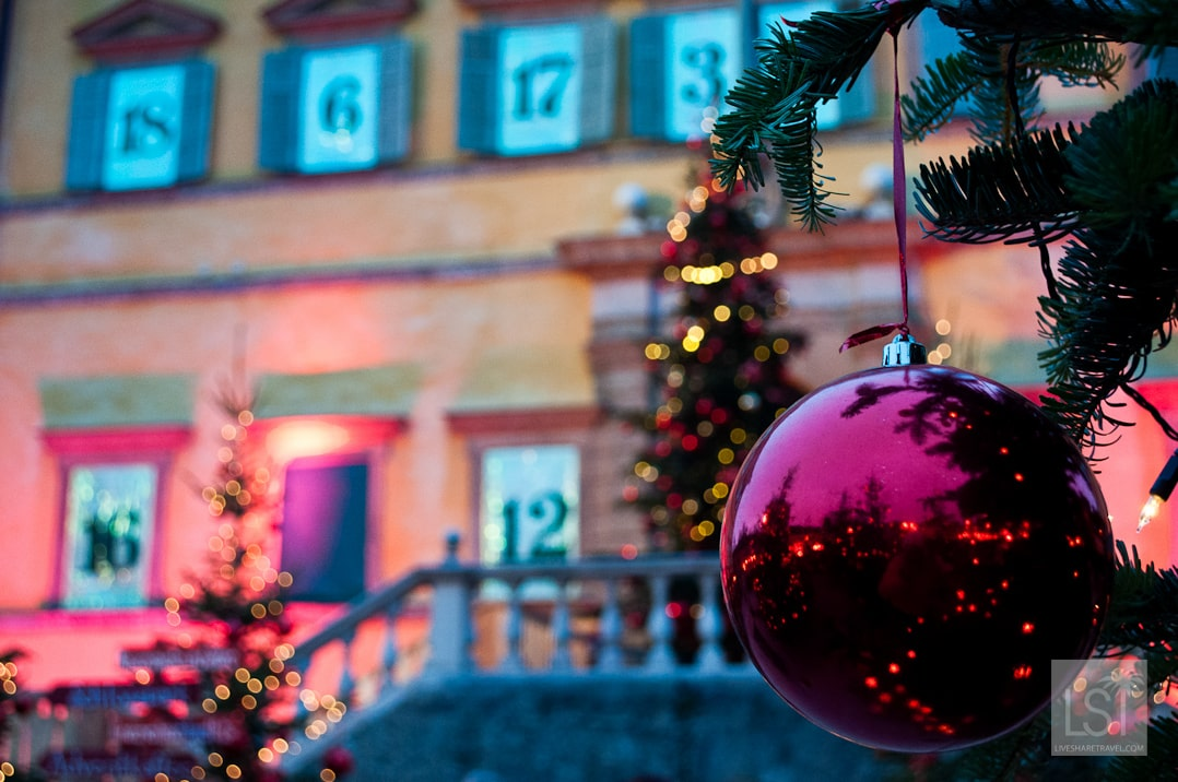 Schloss Hellbrunn was turned into an advent house for the festive season.