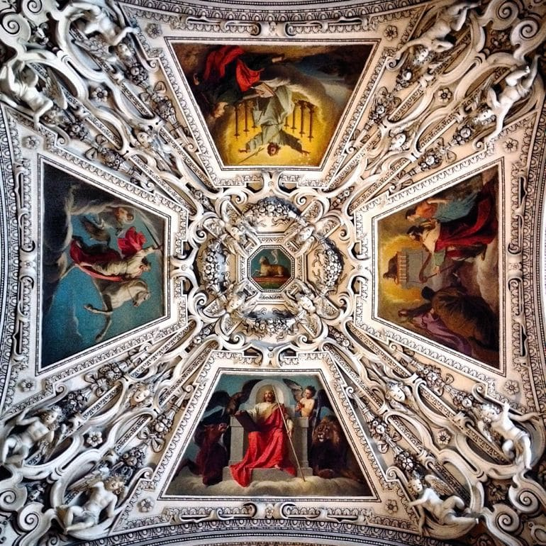 The Italian Rennaissance ceiling of Salzburg's Cathedral