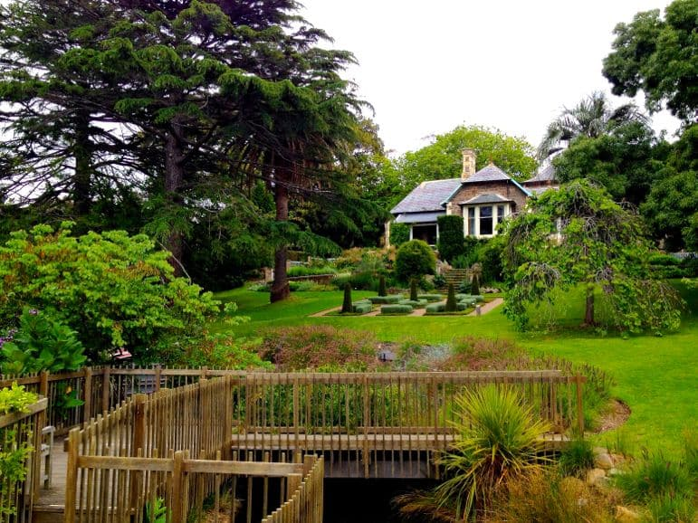 Victoria's gardens - the house at Heronswood dates back to 1871