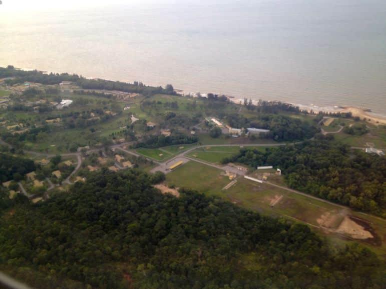 Landing in Brunei
