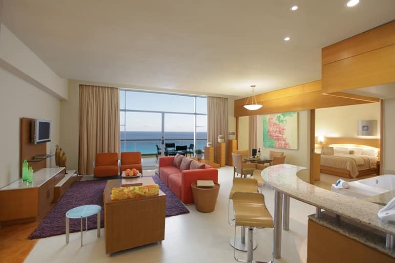 Presidential suite at Palace Resorts' Beach Palace