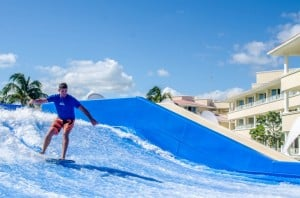 Surf's up on Moon Palace's Flowrider