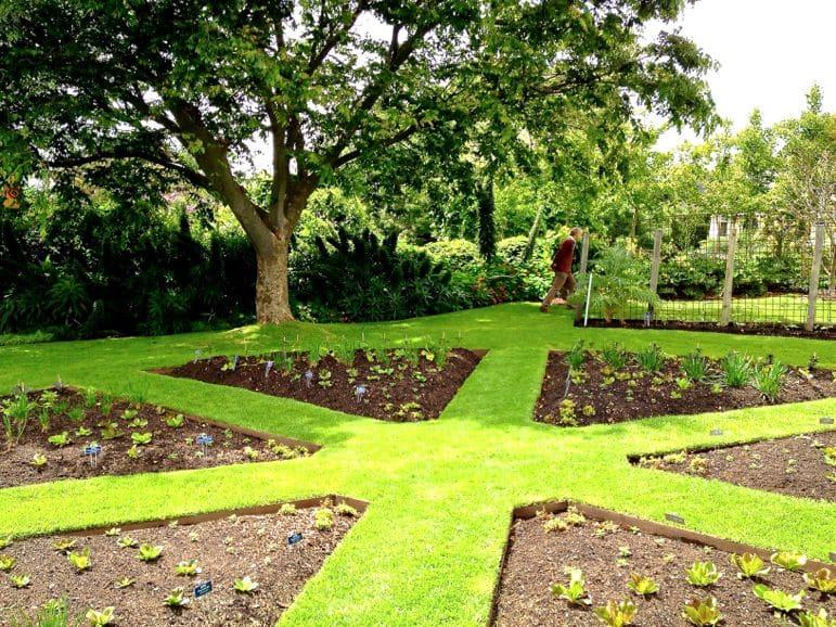 Beautifully landscaped gardens at Heronswood