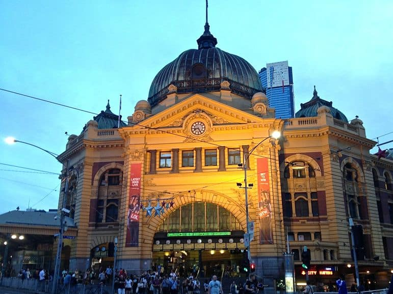 Travel to Melbourne by train and you'll likely arrive at Flinders Street Station