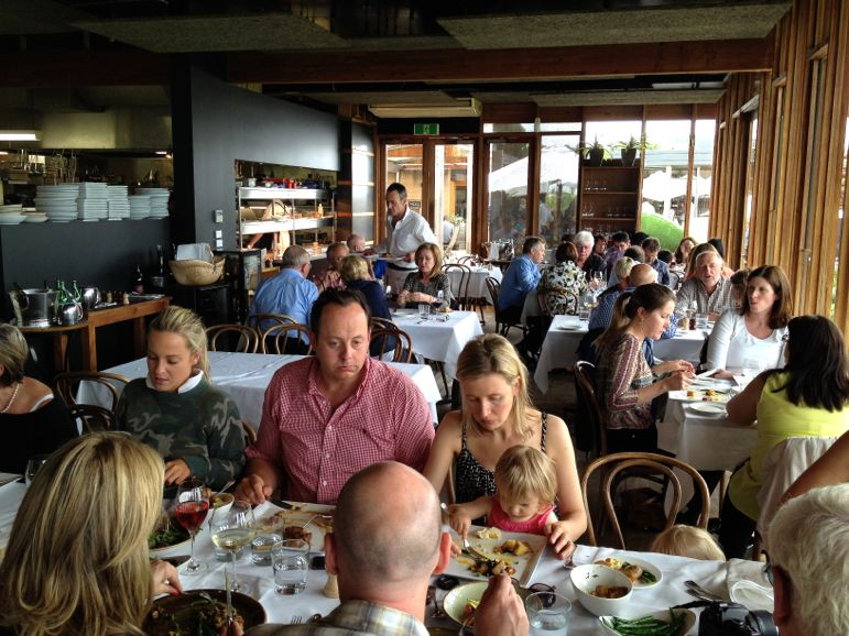 A busy lunchtime at Montalto Vineyard & Olive Grove